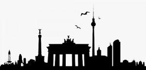 Die Skyline von Berlin.