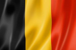 Die belgische Flagge.