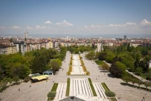 Hervorragender Blick auf Bulgariens Hauptstadt Sofia.