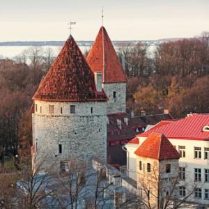Eine beeindruckende Festung bei Tallinn.