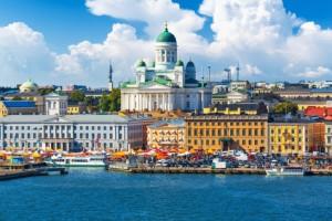Blick auf das schöne Helsinki.