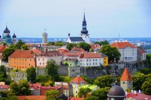 Ein Überblick über die Altstadt Tallinns.