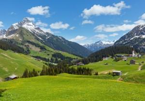 Blick auf die Berge in Österreich.