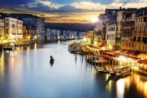 Der große Kanal in Venedig.