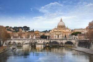 Blick auf den Vatikan in Rom.