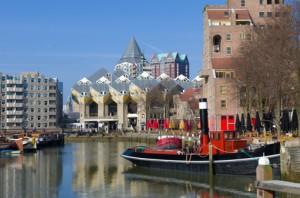 Blick auf den alten Hafen von Rotterdam.