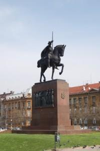 Statue von König Tomislav.