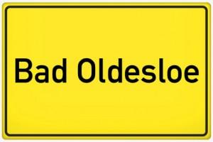 Ortsschild von Bad Oldesloe.