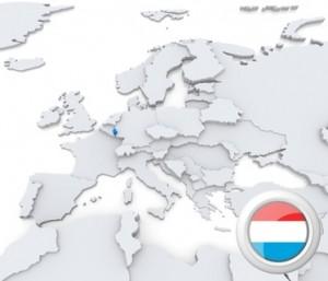 Fahne und Position von Luxemburg.