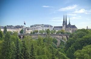 Die Stadt Luxemburg aus der Ferne aufgenommen.