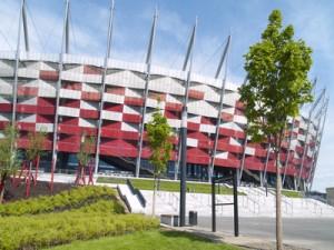 Das polnische Nationalstadion.