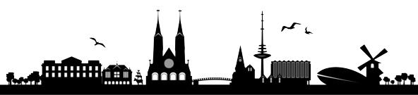 Skyline von Bremen.