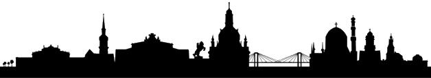 Skyline von Dresden.