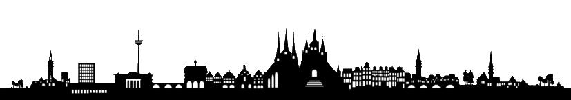 Skyline von Erfurt.