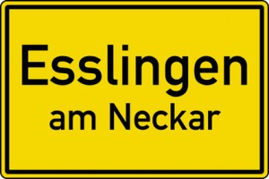 Esslingen am Neckar Gießen Ortstafel Ortseingang Schild