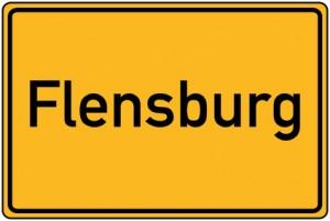 Ortstafel von Flensburg